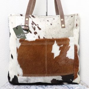 🆕Myra Bag COWHIDE Leather Large Tote Bag P